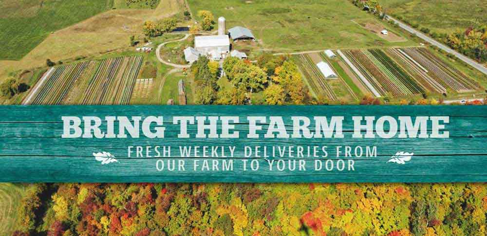Bringing The Farm Home. Fresh weekly deliveries from our farm to your door. Sign Up Now.
